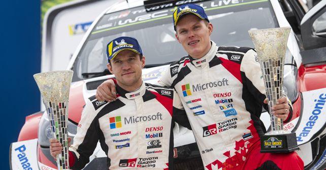 2019 WRC Rally Sweden Ott Tanak And Martin Jarveoja
