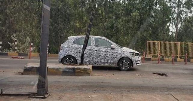 Tata Tiago facelift caught testing