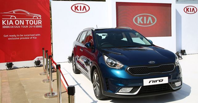 Kia Niro On Display During Kia Design Tour India 2019