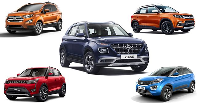 Hyundai Venue vs Ford EcoSport vs Maruti Suzuki Brezza vs Tata Nexon vs Mahindra XUV300: Spec comparison