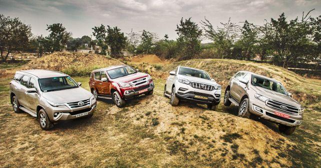 Ford Endeavour Vs Isuzu MUX Vs Mahindra Alturas G4 Vs Toyota Fortuner