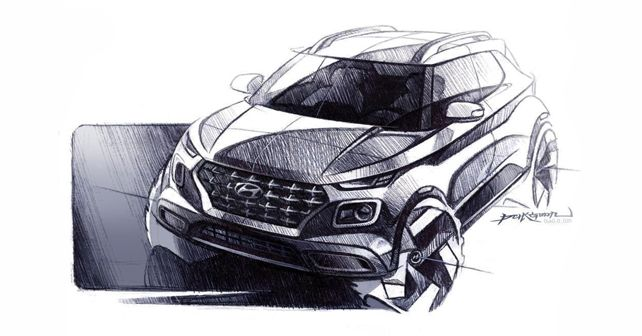 Hyundai Venue Sketch Front Design