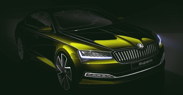 2019 Skoda Superb Design Sketch