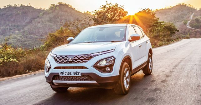 Tata Harrier Front Three Quarter Action