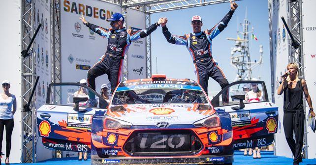 Dani Sordo and Carlos Del Barrio win Rally Italia for Hyundai Shell Mobis WRT