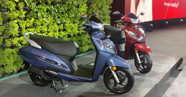 New Honda Activa 125 BS6 in Rebel Red Metallic & Midnight Blue Metallic