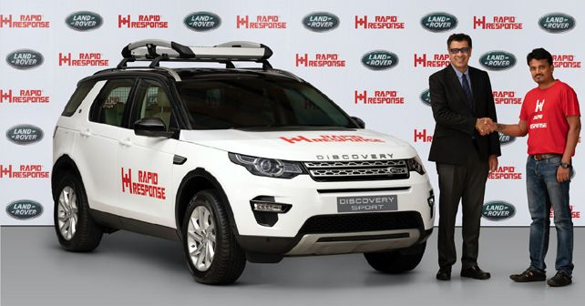 JLR India loans a specially-prepped LR Discovery Sport to Rapid Response NGO