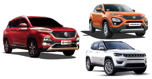 MG Hector Vs Tata Harrier Vs Jeep Compass