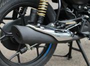 bajaj platina 110 h gear Image exhaust