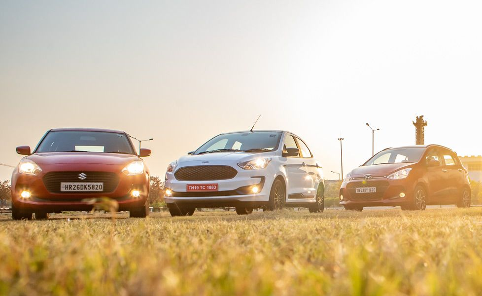 ford figo vs maruti suzuki swift vs hyundai grand i10