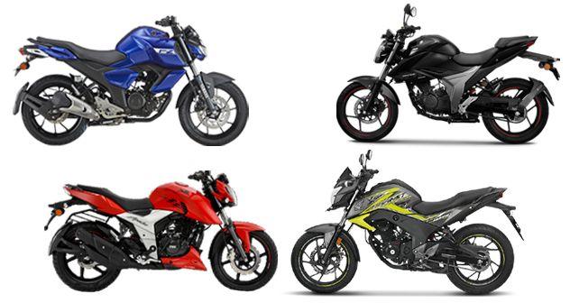 2019 Suzuki Gixxer Vs Yamaha FZ FI Vs Honda CB Hornet 160 R Vs TVS Apache RTR 160