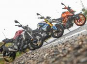 Honda CB300R vs BMW G 310 R vs KTM Duke 390