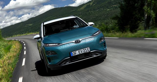 Hyundai Kona Electric Front Profile Motion