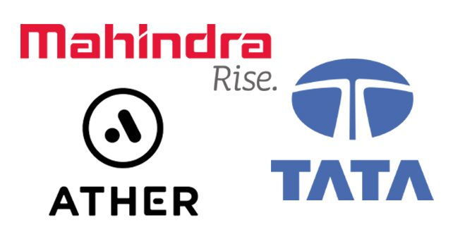 Mahindra, Tata and Ather Energy Logos