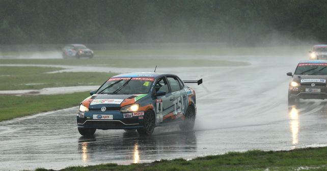 Saurav Bandyopadhyay Wins Race One Of VW Ameo Class Round