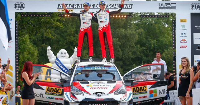 Ott Tanak & Martin Jarveoja win third consecutive Rally Germany title