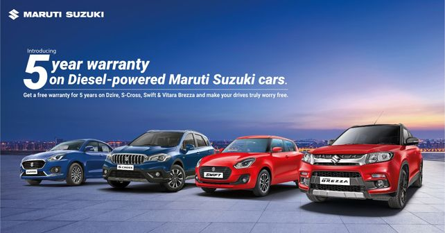 Maruti Suzuki introduces 5-year warranty on select diesel models