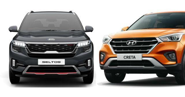 Kia Seltos Vs Hyundai Creta Variant Comparison