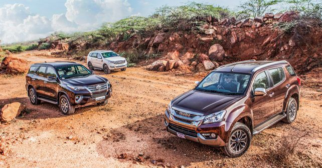 Toyota Fortuner vs Ford Endeavour vs Isuzu MU-X