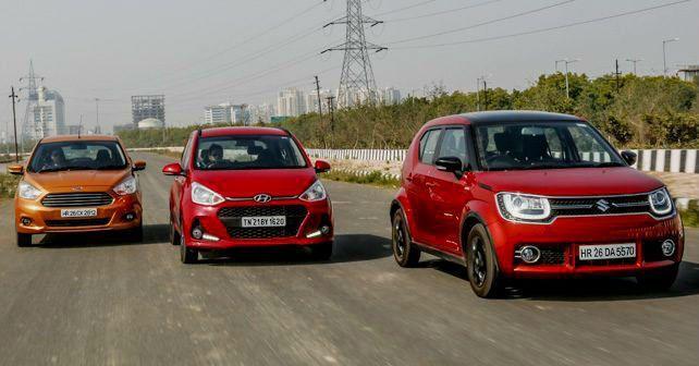 Maruti Ignis Vs Hyundai Grand I10 Vs Ford Figo Contrast