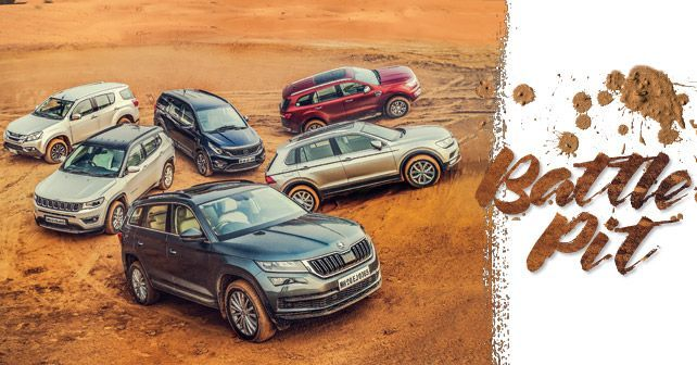 Skoda Kodiaq Vs Volkswagen V Vs Jeep Compass Vs Tata Hexa XT AWD Vs Isuzu MU X Vs Ford Endeavour 3 2 AT 4x4