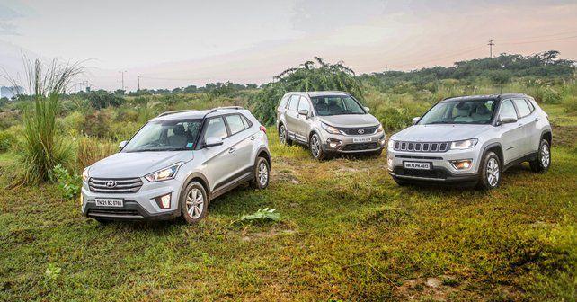 Hyundai Creta vs Jeep Compass vs Tata Hexa