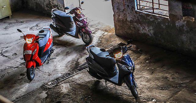 Honda Activa 125 vs Suzuki Lets vs Yamaha Alpha