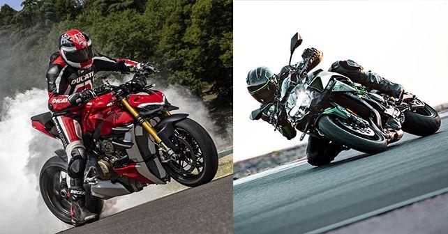 Ducati Streetfighter V4 Vs Kawasaki Z H2