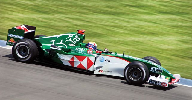 Mark Webber Jaguar Racing 2004 US GP PC Rick Dikeman
