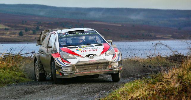 Ott Tanak and Martin Jarveoja at Rally Wales GB 2019