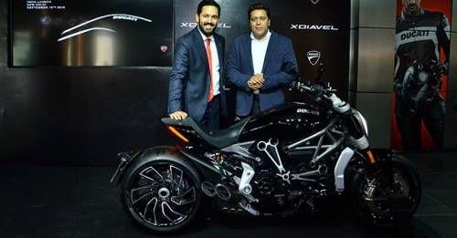 Ravi Avalur Managing Director Ducati India And Yogesh Phogat Director Of Operations Ducati India