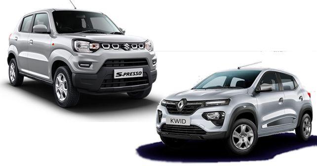 2019 Renault Kwid 1.0-litre vs Maruti Suzuki S-Presso