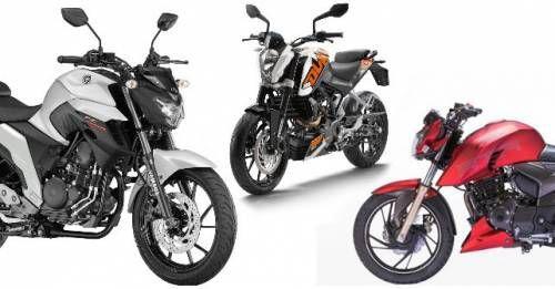 Yamaha FZ25 KTM 200Duke TVS Apache RTR 200 M
