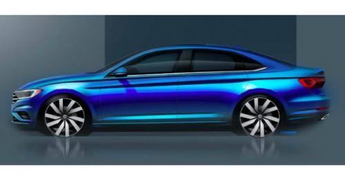 2019 Volkswagen Jetta Side Profile Teaser Sketch M