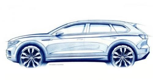 2019 Volkswagen Touareg Teased Sketch M