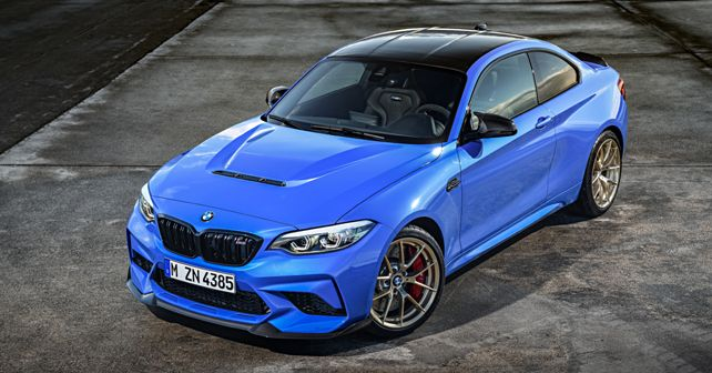 2020 BMW M2 CS in Misano Blue Top View