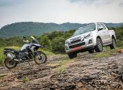 BMW R 1250 GS Pro and Isuzu D Max V Cross
