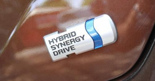 Camry Hybrid Badge
