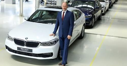 Dr Stallkamp MD BMW Group Plant Chennai With The BMW 6 Series Gran T