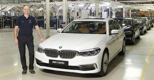 Mr Thomas Dose MD BMW Plant Chennai With The BS VI Diesel BMW 5 Series