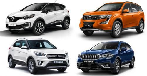 Renault Captur Vs Hyundai Creta Vs Maruti Suzuki S Cross Vs Mahindra XUV500