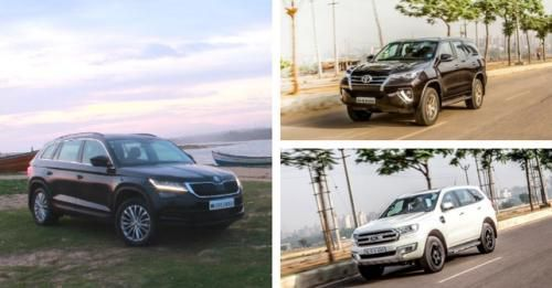 Kodiaq Fortuner Endeavour Comparison
