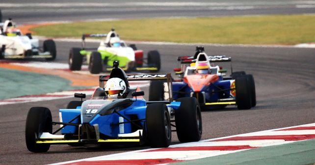 Bangalore Racing Stars' Arjun Maini and Webb (Car #18)