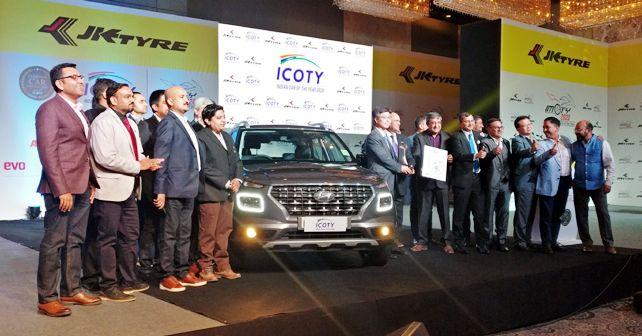 Hyundai Venue Wins The 2020 Indian Car Of The Year Award