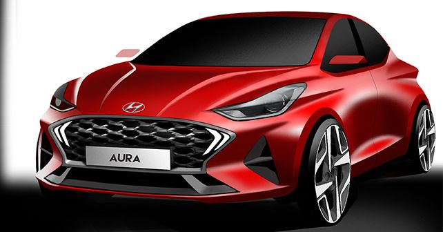 Hyundai Aura Render Revealed Compact Sedan