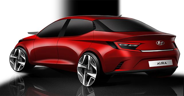 Hyundai Aura Render Revealed Compact Sedan Rear M