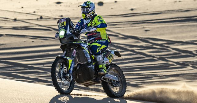 Lorenzo Santolino (Sherco TVS) in action during stage 3 of the 2020 Dakar Rally