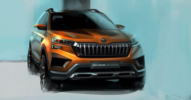 Skoda Vision IN SUV Concept Design Sketch Front