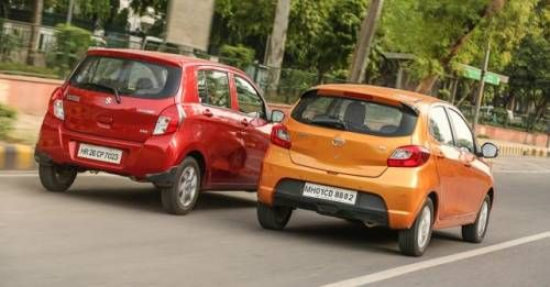 Tata Tiago Vs Maruti Suzuki Celerio Rear Three Quarter