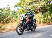 ktm 390 adventure review in action front three quarter